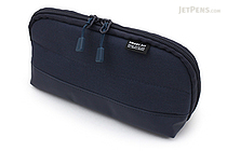 Lihit Lab Smart Fit Actact Wide Open Pen Case - Navy - LIHIT LAB A-7688-11