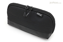 Lihit Lab Smart Fit Actact Wide Open Pen Case - Black - LIHIT LAB A-7688-24