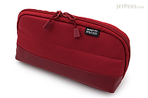 Lihit Lab Smart Fit Actact Wide Open Pen Case - Red - LIHIT LAB A-7688-3