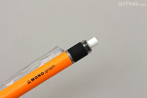 Tombow Mono Graph Shaker Mechanical Pencil - 0.5 mm - Neon Orange - TOMBOW DPA-134D