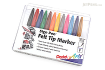 Pentel Sign Pen - Fine Point - 12 Color Set - PENTEL S520-12