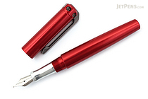Karas Kustoms Ink Fountain Pen - Aluminum Red Body - Fine Nib - KARAS KK-5054-RED