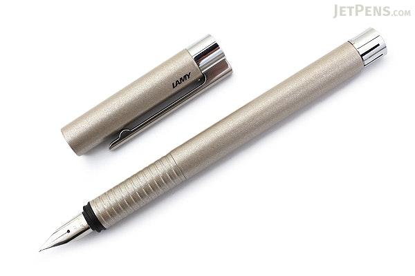 Lamy Logo Fountain Pen - Brushed Pearl - Medium Nib - LAMY L06PLM