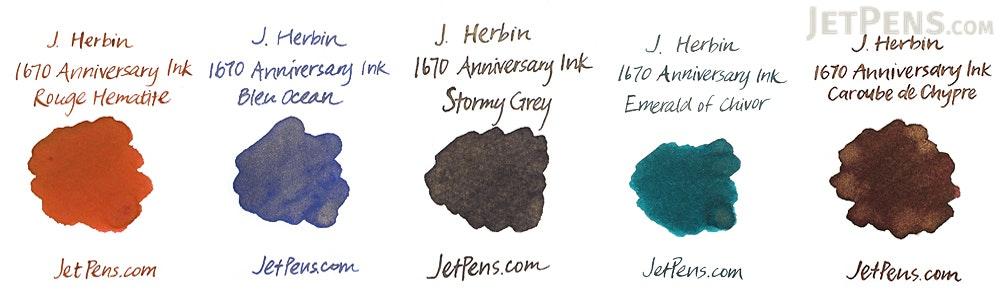 J. Herbin Bleu Ocean Ink - 1670 Anniversary - 50 ml Bottle - J. HERBIN H150/18