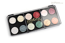 Finetec Artist Mica Watercolor - Pearl - 12 Color Set - FINETEC M1200