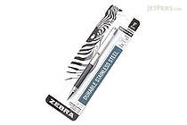 Zebra F-301 Compact Stainless Steel Ballpoint Pen - 0.7 mm - Black - ZEBRA 27411