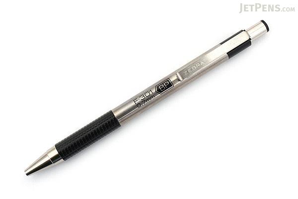 Zebra F-301 Stainless Steel Retractable Ballpoint Pen - 0.7 mm - Black - ZEBRA 27110