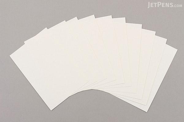 Akashiya Etegami Postcard Size Paper - Suisai Paper - Pack of 10 Sheets - AKASHIYA AO-30L