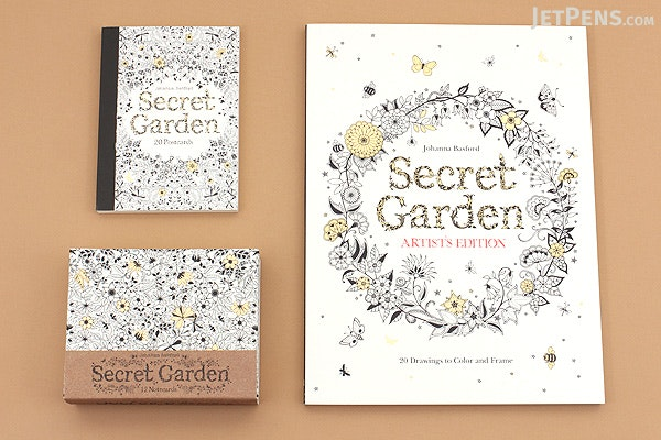 Secret Garden Postcards - Johanna Basford - Set of 20 - LAURENCE KING 9781856699464