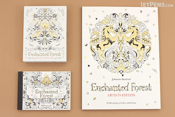 Enchanted Forest Postcards - Johanna Basford - Set of 20 - LAURENCE KING 9781856699792