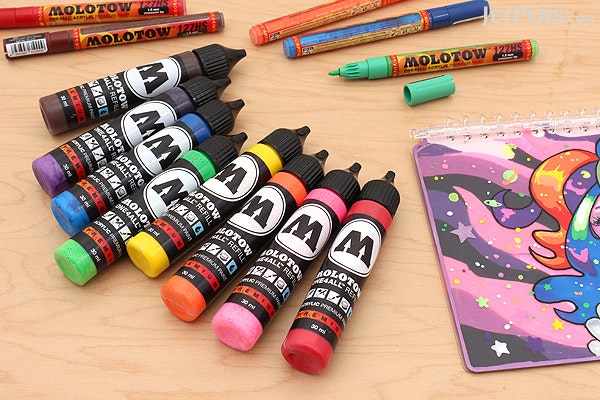 Molotow ONE4ALL Acrylic Paint Marker Refill - 30 ml - Neon Pink (200) - MOLOTOW 693.200