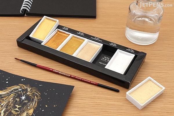 Kuretake Gansai Tambi Watercolor Palette - Starry Colors - 6 Color Set - KURETAKE MC20SC/6V