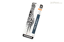 Zebra JK-Refill Gel Pen Refill - 0.7 mm - Black - Pack of 2 - ZEBRA 88112