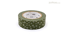 MT Patterns Washi Tape - Plum Blossom Nejiriume Uguisu (Green Brown) - 15 mm x 10 m - MT MT01D277Z