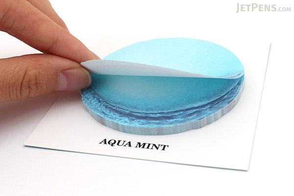 Design Shim Macarons Sticky Notes - Large - Aqua Mint - DESIGN SHIM OFP-BMA16 AQ