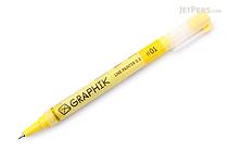 Derwent Graphik Line Painter Pen - #01 Brickroad (Yellow) - 0.5 mm - DERWENT 2302210