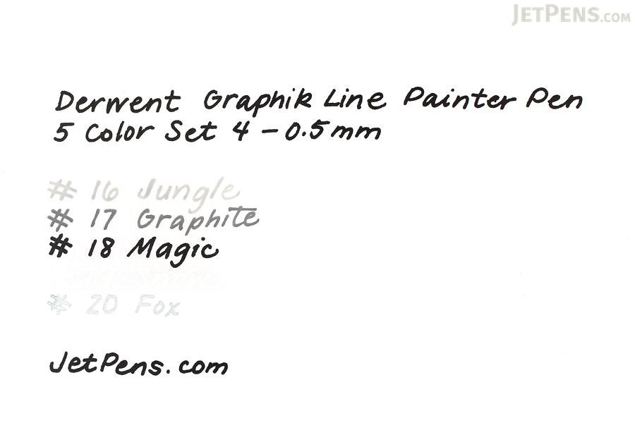 Derwent Graphik Line Painter Pen - 5 Color Set 4 - 0.5 mm - DERWENT 2302233