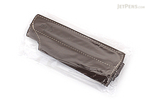 Quiver Single Pen Holder for A6 Pocket Notebooks - Mocha with Beige Stitching - QUIVER RPH-101-BLK-MOK