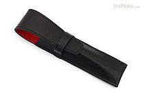 Ohto Leather Pen Case - 1 Pen - Black - OHTO LPC-1A-BKRD
