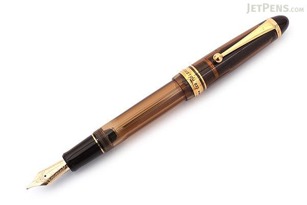 Pilot Custom 823 Fountain Pen Gift Set - Amber Body - Medium Nib - PILOT 60556