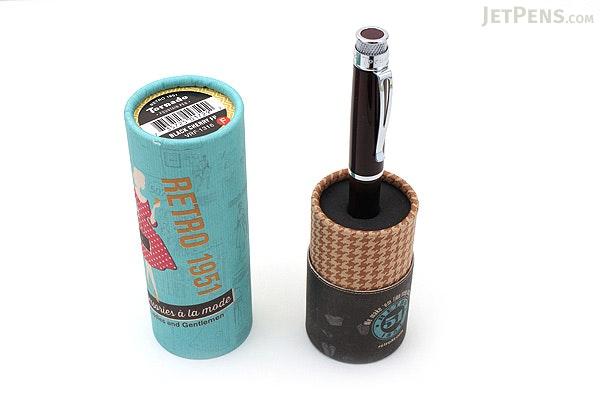 Retro 51 Tornado Fountain Pen - Black Cherry EXT - Fine Nib - RETRO 51 VRF-1316-F