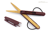 Raymay Pencut Titanium Coated Scissors - Wine - RAYMAY SH103Z