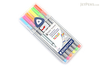Staedtler Triplus Fineliner Pen - 0.3 mm - Neon Colors - 6 Color Set - STAEDTLER 334 SB6NA6