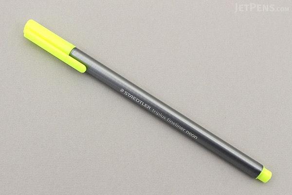 Staedtler Triplus Fineliner Pen - 0.3 mm - Neon Yellow - STAEDTLER 334-101