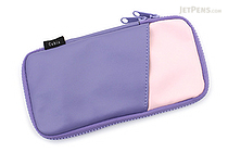 Cubix Round Zip Pen Case - Synthetic Leather - Purple/Pink - CUBIX 106166-07-100
