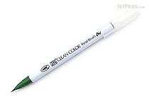 Kuretake Zig Clean Color Real Brush Pen - Deep Green (044) - KURETAKE RB-6000AT-044