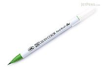Kuretake Zig Clean Color Real Brush Pen - May Green (047) - KURETAKE RB-6000AT-047