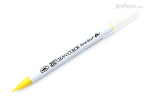 Kuretake Zig Clean Color Real Brush Pen - Lemon Yellow (051) - KURETAKE RB-6000AT-051