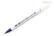 Kuretake Zig Clean Color Real Brush Pen - Deep Violet (084) - KURETAKE RB-6000AT-084