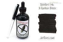 Noodler's X-Feather Black Ink - 4.5 oz Bottle with Free Pen - NOODLERS 19819