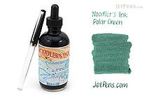 Noodler's Polar Green Ink - 4.5 oz Bottle with Free Pen - NOODLERS 19823