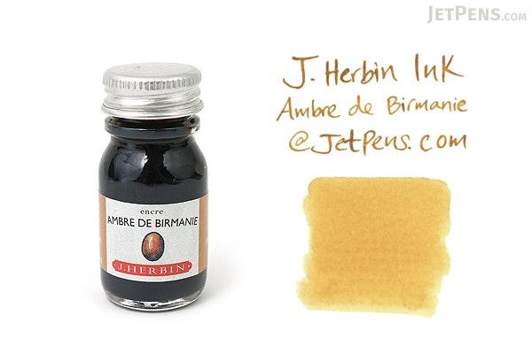 J. Herbin Ambre de Birmanie Ink (Amber Gold of Burma) - 10 ml Bottle - J. HERBIN H115/41