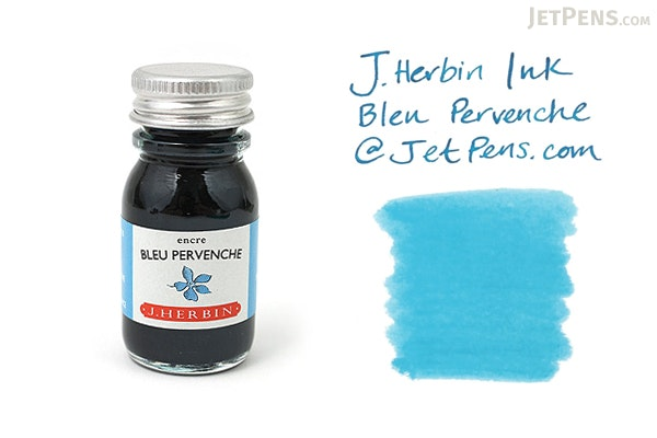 J. Herbin Bleu Pervenche Ink (Periwinkle Blue) - 10 ml Bottle - J. HERBIN H115/13