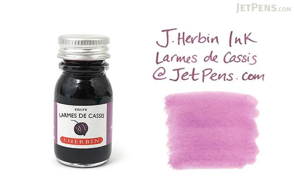 J. Herbin Larmes de Cassis Ink (Tears of Black Currant Purple) - 10 ml Bottle - J. HERBIN H115/78
