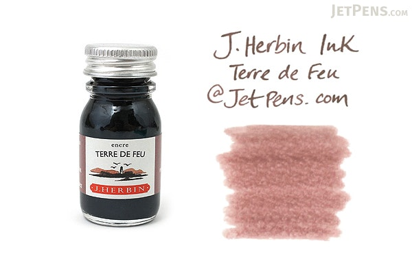 J. Herbin Terre de Feu Ink (Tierra del Fuego Brown) - 10 ml Bottle - J. HERBIN H115/47