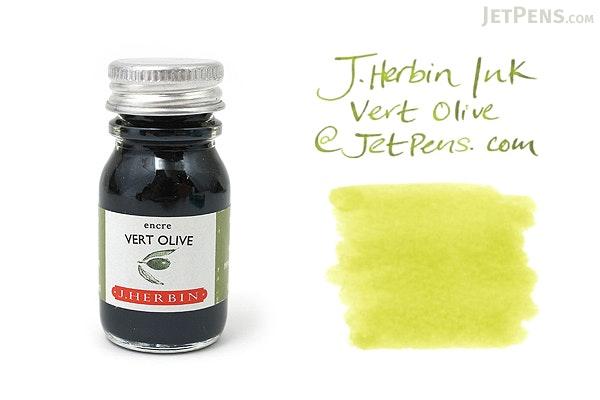 J. Herbin Vert Olive Ink (Olive Green) - 10 ml Bottle - J. HERBIN H115/36