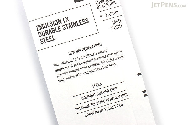 Zebra Z-Mulsion LX Emulsion Ink Pen - 1.0 mm - Black - ZEBRA 34511