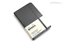 "Rhodia Webnotebook - 3.5"" x 5.5"" - 5 mm Dot Grid - Black - RHODIA 118569"