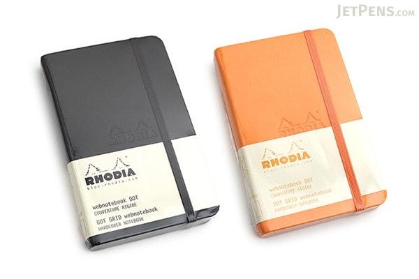 "Rhodia Webnotebook - 3.5"" x 5.5"" - 5 mm Dot Grid - Black - RHODIA 118569"