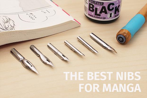 Guide to manga pen nibs jetpens