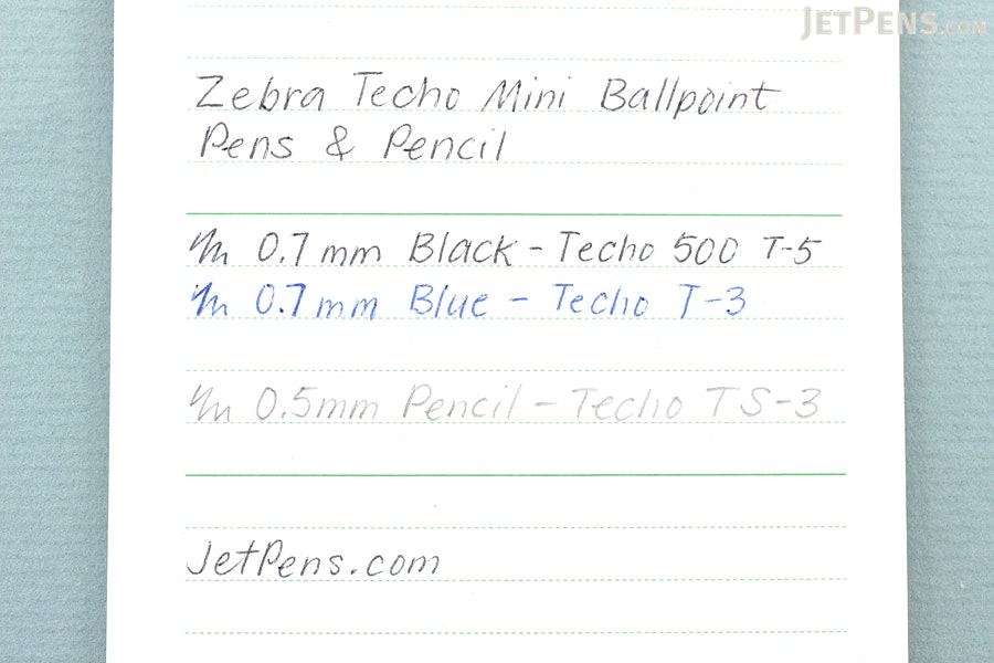 Zebra Techo 500 T-5 Mini Ballpoint Pen - 0.7 mm - Black Ink - ZEBRA T-5