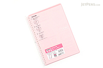 Kokuyo Campus Smart Ring Binder Notebook - B5 - 26 Rings - Light Pink - KOKUYO RU-SP700NLP