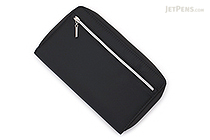 Raymay Double Zipper Multi-Use Covered Notebook - A5 Slim - Black - RAYMAY CN193 B