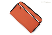 Raymay Double Zipper Multi-Use Covered Notebook - A5 Slim - Orange - RAYMAY CN193 D