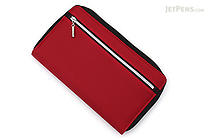 Raymay Double Zipper Multi-Use Covered Notebook - A5 Slim - Wine Red - RAYMAY CN193 Z