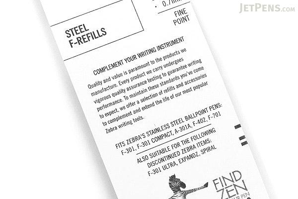 Zebra F-Refill Ballpoint Pen Refill - 0.7 mm - Black - ZEBRA 85511